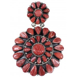 Silver Red Oyster Shell Pendant YX73876