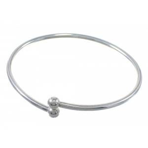 "Sterling Silver 7"" Charm Flex Bangle Bracelet QX77313"