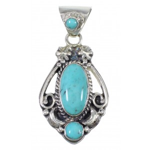 Turquoise Sterling Silver Jewelry Pendant AX78448