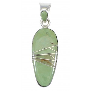Southwest Turquoise Sterling Silver Pendant RX77184