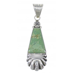 Silver And Turquoise Southwest Pendant YX77314