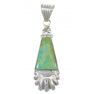 Sterling Silver And Turquoise Southwestern Pendant YX77318