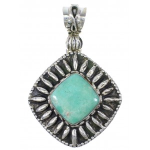 Turquoise And Sterling Silver Southwestern Pendant YX77326
