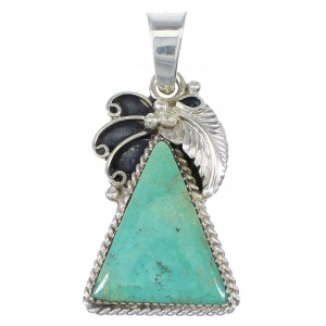 Southwest Turquoise Sterling Silver Pendant YX77329