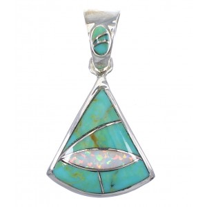 Sterling Silver Turquoise Opal Pendant YX75963