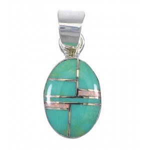 Silver Turquoise And Opal Pendant YX75969