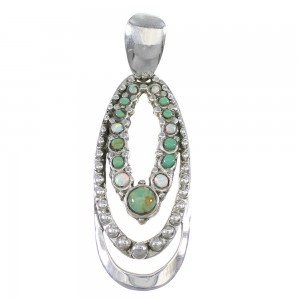 Southwest Opal Turquoise Sterling Silver Pendant YX76148