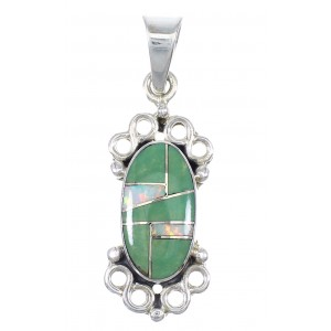 Southwest Sterling Silver Opal And Turquoise Pendant YX77620