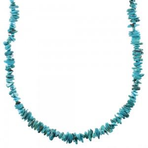 Southwest Silver Turquoise Bead Necklace YX76656