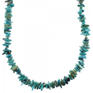 Turquoise Bead Sterling Silver Necklace YX76695