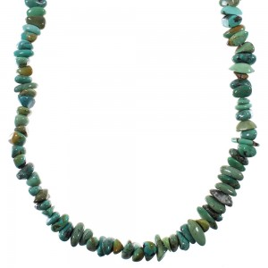 Southwestern Turquoise Sterling Silver Bead Necklace YX76707