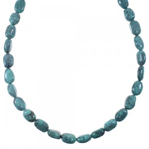 Southwestern Silver And Turquoise Bead Necklace YX76891