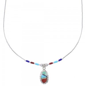 Multicolor Genuine Liquid Sterling Silver Bead Necklace WX78374