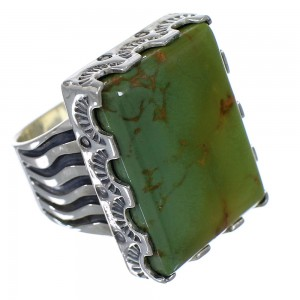 Sterling Silver Southwest Turquoise Ring Size 6-1/2 QX85500