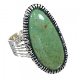 Authentic Sterling Silver Southwest Turquoise Jewelry Ring Size 8-1/2 QX85550