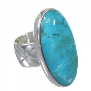 Silver And Southwest Turquoise Jewelry Ring Size 4 AX84162