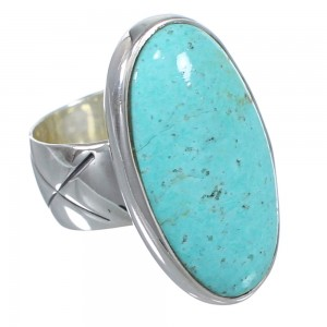 Turquoise Sterling Silver Jewelry Southwestern Ring Size 5-1/2 AX84282