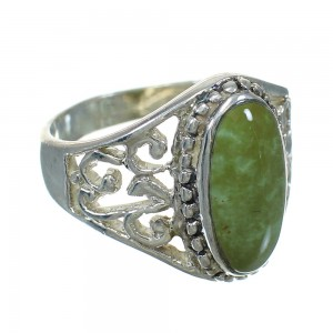 Silver And Turquoise Southwestern Ring Size 4-3/4 YX83888