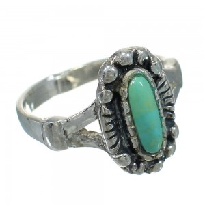Turquoise Silver Southwest Ring Size 5-1/2 YX83904
