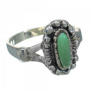 Turquoise And Sterling Silver Southwestern Ring Size 6-1/4 YX83937