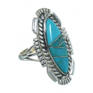Turquoise Sterling Silver Southwest Ring Size 6 QX85117