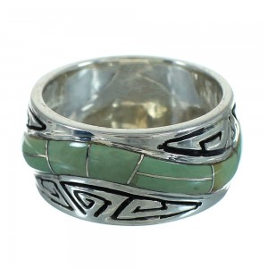 Water Wave Southwest Authentic Sterling Silver Turquoise Ring Size 5-3/4 QX85821