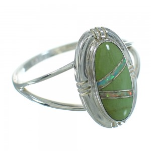 Turquoise Opal Sterling Silver Southwest Ring Size 7-1/2 QX83493