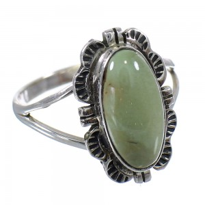 Southwest Sterling Silver Turquoise Jewelry Ring Size 7 FX92938