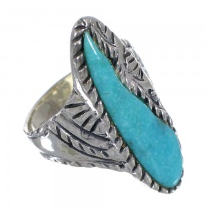 Sterling Silver Turquoise Southwest Ring Size 7 FX93313