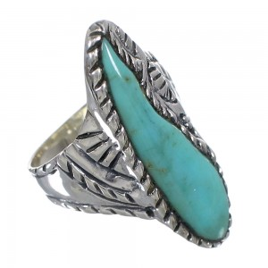 Genuine Sterling Silver Turquoise Southwest Ring Size 5-1/4 FX93329