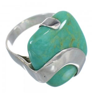 Turquoise Genuine Sterling Silver Jewelry Ring Size 7-1/2 RX88597