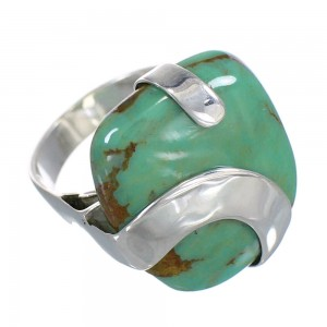 Turquoise And Genuine Sterling Silver Ring Size 5-1/2 RX88627