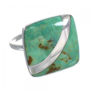 Authentic Sterling Silver Turquoise Southwest Jewelry Ring Size 7 RX88728