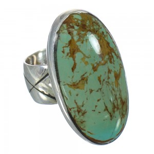 Authentic Sterling Silver Turquoise Jewelry Ring Size 4-1/4 AX92658
