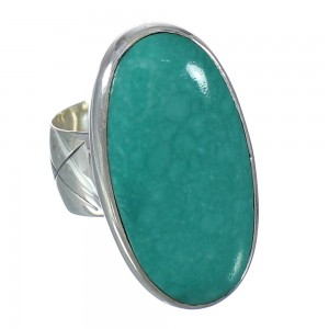 Turquoise Jewelry Authentic Sterling Silver Southwest Ring Size 5-1/2 AX92715