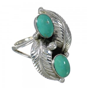 Sterling Silver Turquoise Southwest Jewelry Ring Size 6-1/2 FX91456
