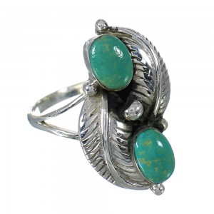 Sterling Silver Turquoise Jewelry Ring Size 6-1/2 FX91552