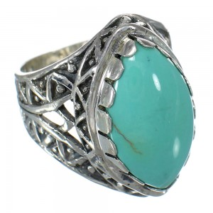 Authentic Sterling Silver Turquoise Ring Size 5-1/2 FX93434