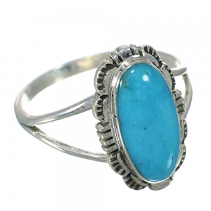 Sterling Silver Turquoise Southwest Jewelry Ring Size 7-1/4 RX92689