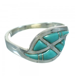 Turquoise Silver Southwest Jewelry Ring Size 4-3/4 AX92229