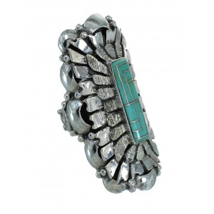 Turquoise Sterling Silver Ring Size 6-1/2 AX89331