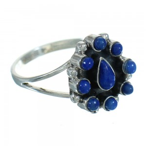 Sterling Silver Lapis Jewelry Ring Size 7-1/2 AX88418