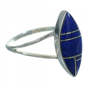 Southwest Real Lapis Sterling Silver Ring Size 5-3/4 FX90331