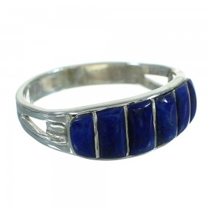 Authentic Sterling Silver Lapis Ring Size 6 FX90314