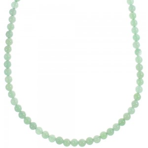 Southwest Aventurine Silver Bead Necklace YX89372