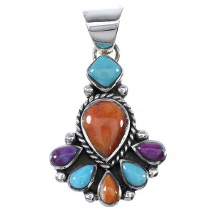 Multicolor Sterling Silver Southwest Pendant AX91064