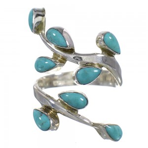 Southwest Silver Turquoise Ring Size 6 YX93820