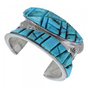 Turquoise Inlay Dragonfly Jewelry Silver Cuff Bracelet MX27123