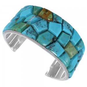 Sterling Silver Southwest Turquoise Cuff Bracelet FX27284