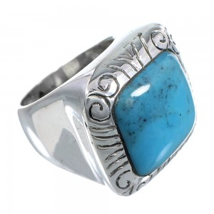 Sterling Silver Jewelry Turquoise Southwest Ring Size 6-3/4 YS63345